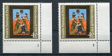 Berlin 658 FN 1 + 2 postfrisch Eckrand Formnummer Ecke 4 Weihnachten 1981