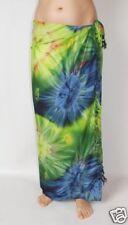 Nouveau Unisexe tie dye Sarong Bleu Vert Wrap Châle de jeter une taille couvrir / sa206