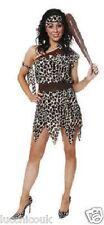 LADIES CAVE WOMEN GIRL LEOPARD PRINT PREHISTORIC COSTUME FANCY DRESS