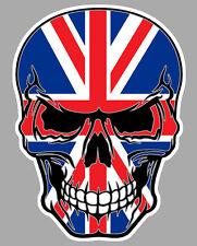 DRAPEAU ANGLAIS MORT STICKER ANGLETERRE BIKER FLAG SKULL MOTO AUTOCOLLANT SA158