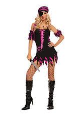 4 pc costume - Black Light Receptive! PIRATE Adult Woman Halloween UV Glow