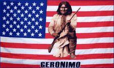 Geronimo US Flag 3x5 ft Apache USA United States America Native American Indian