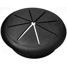 "Flexible Round Desk Grommets - Hole Diameters: 2"", 2.375"" - Black, Gray, White"