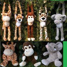1 Plüschtier Giraffen Tiger Leoparden Affen Elefanten Kuscheltier Stofftier neu