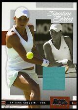 TATIANA GOLOVIN  2005 Ace Authentic Signature Series Memorabilia Swatch 297/500