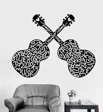 Vinyl Wall Decal Guitar Guitarist Musician Music Lover Stickers (1075ig)