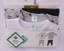 TEX lot de deux pyjamas bio blanc gris et blanc  garçon  18 ou 23 mois