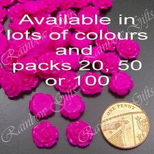 Piatto Indietro Cabochon 20 50 o 100 Fiore rosa cabochon 10 mm resina cabochon