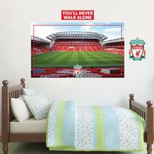 Liverpool Football Club Anfield Mainstand Mural + Crest Wall Sticker Decal Set