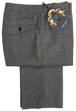 Hombre Marc Darcy Elegante Pantalones de Cuadros Estilo James - Gris