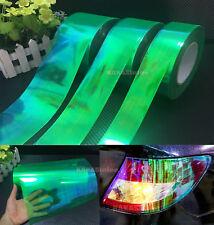 Green Car Glossy Chameleon Mirror Headlight Taillight Vinyl Wrap Tape Sticker AB