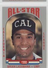 1990 Cal League California All-Stars #34 Brian Laxamana Umpire Baseball Card
