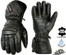 Pour Hommes Imperméable à L'Eau Thermique Long Épais Moto / Hiver Gants Cuir