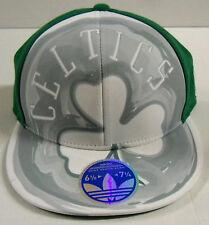 NBA Boston Celtics Adidas Flat Visor Flex Cap Hat (Small Mark on The Visor)