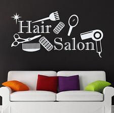Beauty Salon Wall Decal Hairdressing Hair Salon Vinyl Sticker Interior Art  95