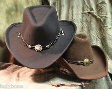 Cowboyhut, Westernhut Idaho in braun o. schwarz, Concha Hutband, formbar v. S&S