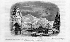 Stampa antica TERRE AUSTRALI della Francia TAAF 1842 Ancien Gravure Old Print