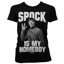 Officially Licensed Star Trek- Spock Is My Homeboy Women T-Shirt S-XXL Sizes