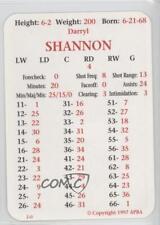 1997-98 APBA #DASH Darryl Shannon Buffalo Sabres Hockey Card