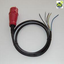 Anschlußkabel Gummi H07RN-F 5G1,5 mm² mm2,abisoliert 2,0m,16A CEE-Stecker