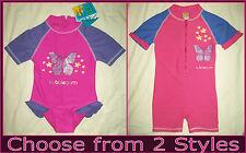Baby RASHSUIT Sz 00 0 1 2 3 SWIMWEAR BATHERS Togs PINK & PURPLE Rash Sunsuit NEW