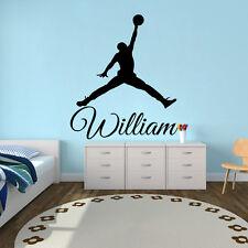 Name Wall Decals Basketbal Decal Vinyl Sticker Nursery Baby Bedroom Decor  Ah55