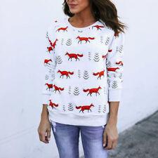 Womens Christmas Tops Jumper Hoodies Xmas Adult Long Sleeve Sweatshirt Outwear