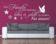 X367 Wandtattoo Spruch / Eine Familie lieben geliebt Wandsticker Wandaufkleber 1