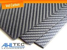 Carbon Platte 3mm / CFK Kohlefaser / Köper Voll Carbon / Größe wählbar