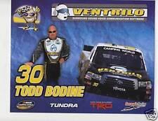TODD BODINE 2009 VENTRILO CAMPING WORLD POSTCARD #30