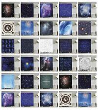 Retro Constellation Pattern Shower Curtain Fabric Decor Set with Hooks 4 Sizes