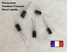 Condensateur chimique Radial 100uF/35V 105°C . Lot au choix. Neufs !! 10-42