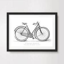 BIKE ART PRINT POSTER Vintage Illustration Wall Chart Diagram Cycling Bicycle