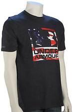 Under Armour Big Flag Logo T-Shirt - Classic Black / White - New