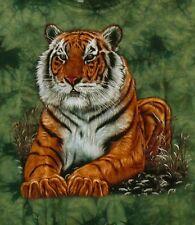 T-Shirt grün Tiger, Gr. 122*128*134*140*146*152 Raubkatze Savanne, Safari, Zoo