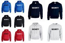 SECURITY HOODIE JUMPER WORKWEAR XXS-3XL FANCY DRESS DOORMAN POLICE (SECURITY)