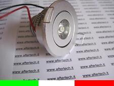 10x 1x3w MINI FARETTO LED INCASSO 30° BIANCO CALDO 3w 220v 230v ORIENTABILE