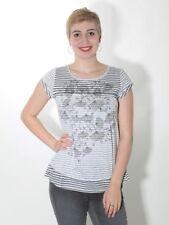 20% Tunique T-Shirt par Simclan Blanc Gris Gr. 38 40 42 44,