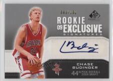 2009-10 SP Game Used #RE-BU Chase Budinger Houston Rockets Auto Basketball Card