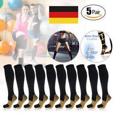 5 Paar Kompressionsstrümpfe Kompressionssocken Compression Socks Laufsocken