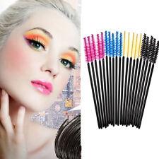 50PCS Disposable Eyelash Eyebrow Brush Applicator Makeup Natural Brush Comb Hot