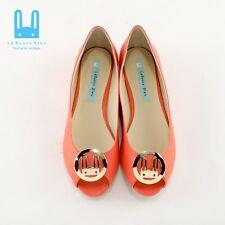 Le Bunny Bleu Size 7.5, 8, 8.5Flats Ballet Simple Soft Suede Orange Dress Shoes