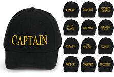 captain baseball cap cotton Mens  Women Family inscription lettering black neo y