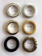 36 X Occhielli Anelli per pali fino a 28mm-plastica Fit & Clip Anelli Per Tende