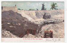 Open Cast Coal Mining Steam Shovel 1905c postcard