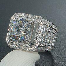 Women Men 925 Silver White Topaz Wedding Engagement Vintage Ring Size 6-13