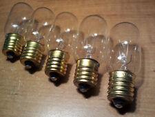5 PCS  25T8N 120V Exit Sign Microwave Oven Freezer Appliance Lamp Light Bulbs