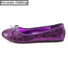 Funtasma Glitter Ballet Flats in Purple