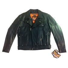 Men/'s Raceway Biker Skull  Leather Jacket FRM266CICZ 643850146179