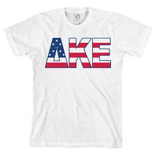 Delta Kappa Epsilon Bella + Canvas T Shirt DKE USA Letters *ALL SIZES*